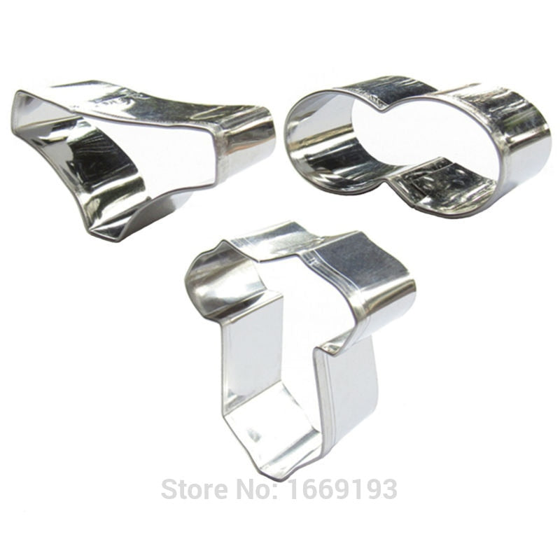 Mini Clothing Set - 3pcs - Stainless Steel - Crafty Cookie Cutters