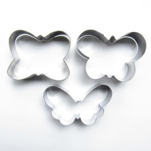 Butterfly Cookie Cutter Set - 3pcs - Stainless Steel - Crafty Cookie Cutters