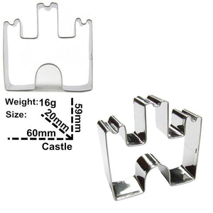 Castle Cookie Cutter - 6cm - Stainless Steel - Crafty Cookie Cutters