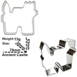 Castle Cookie Cutter - 7cm - Stainless Steel - Crafty Cookie Cutters