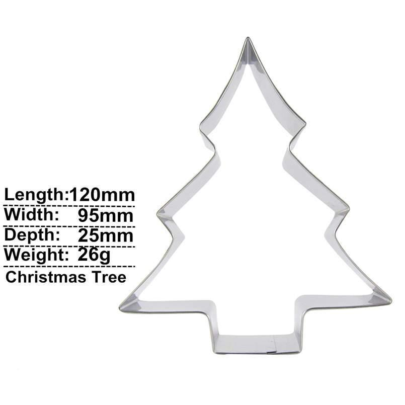 Christmas Tree Cookie Cutter - 12cm - Stainless Steel - Crafty Cookie Cutters