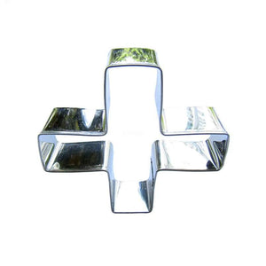 Red Cross Cookie Cutter - 8cm - Stainless Steel - Crafty Cookie Cutters