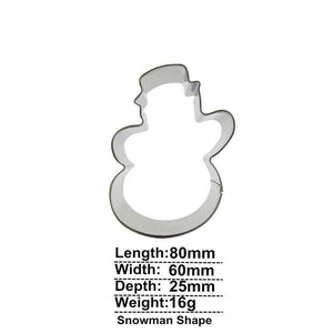 Snowman Cookie Cutter - 8cm - Stainless Steel - Crafty Cookie Cutters
