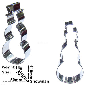 Snowman Cookie Cutter - 11cm - Stainless Steel - Crafty Cookie Cutters