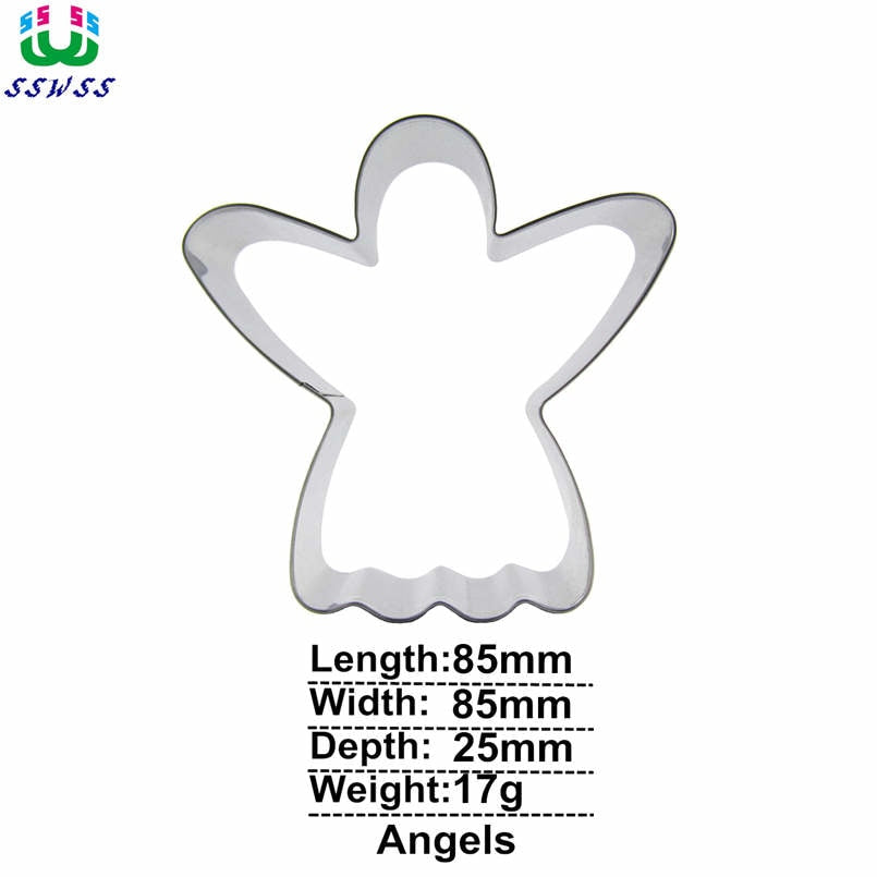 Angel Cookie Cutter - 9cm - Stainless Steel - Crafty Cookie Cutters