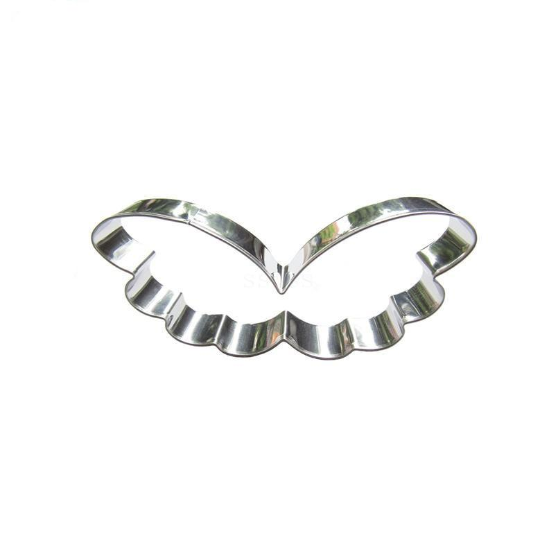 Angel Wings Cookie Cutter - 10cm - Stainless Steel - Crafty Cookie Cutters