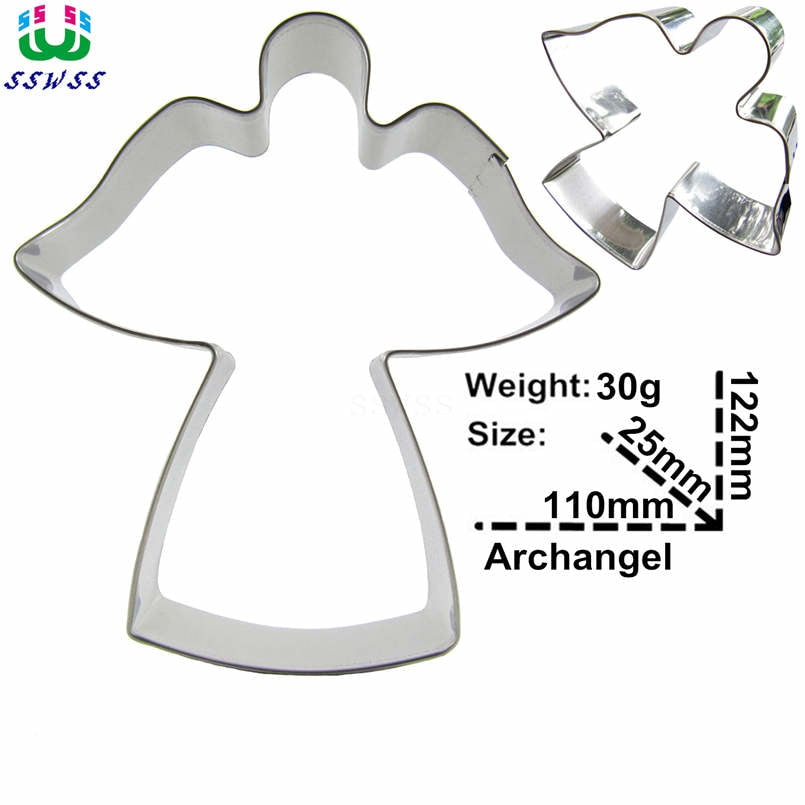 Angel Cookie Cutter - 12cm - Stainless Steel - Crafty Cookie Cutters