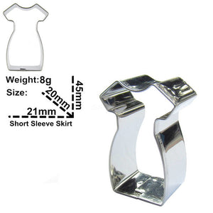 Dress Cookie Cutter - 5cm - Stainless Steel - Crafty Cookie Cutters