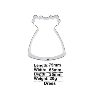 Little Girl's Dress Cookie Cutter - 8cm - Stainless Steel - Crafty Cookie Cutters