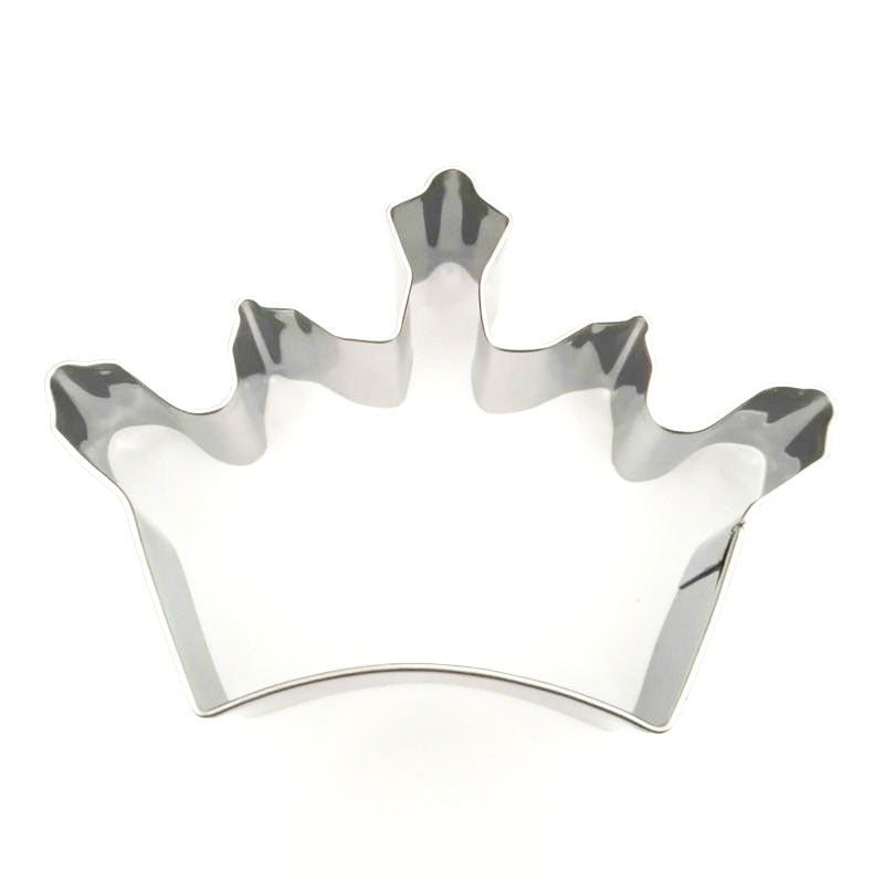 Crown Cookie Cutter - 9cm - Stainless Steel - Crafty Cookie Cutters