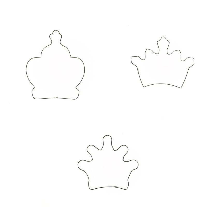 Crown Cookie Cutter Set - 3pcs - Stainless Steel - Crafty Cookie Cutters