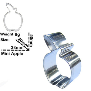 Apple Cookie Cutter - 5cm - Stainless Steel - Crafty Cookie Cutters