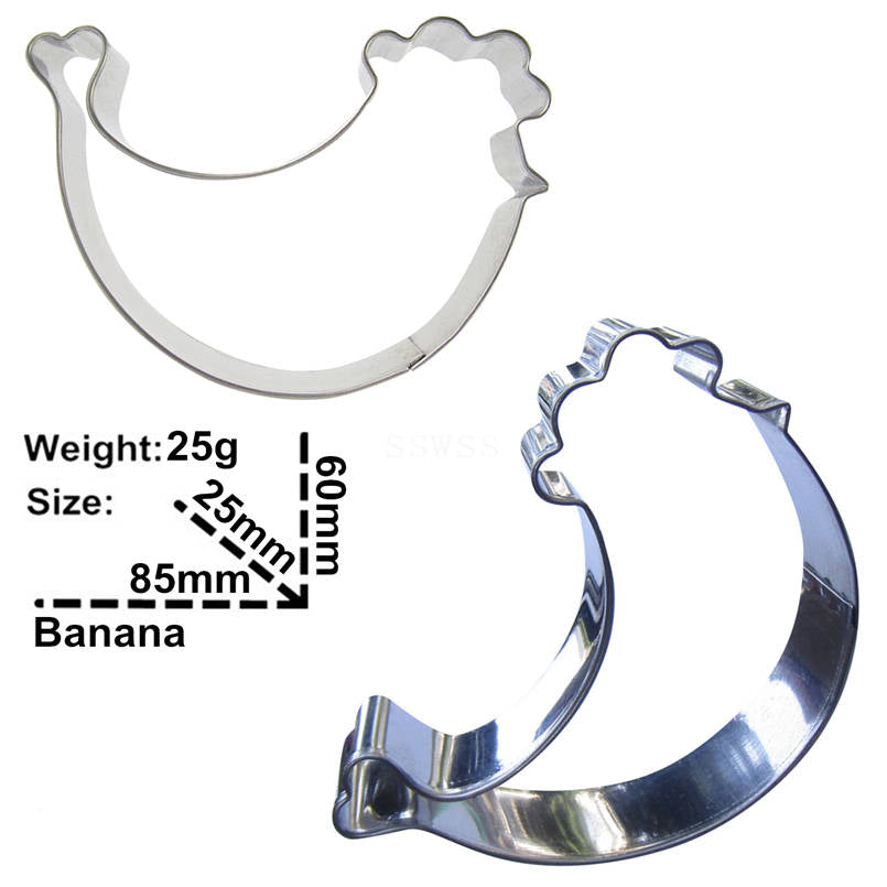 Banana Bunch Cookie Cutter - 9cm - Stainless Steel - Crafty Cookie Cutters