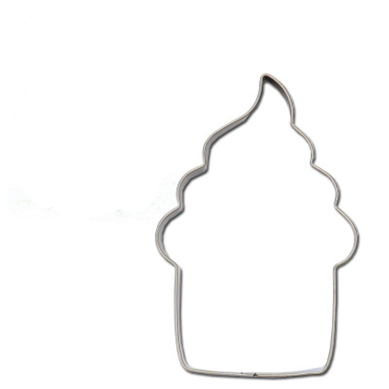 Cupcake Cookie Cutter - 6cm - Stainless Steel - Crafty Cookie Cutters