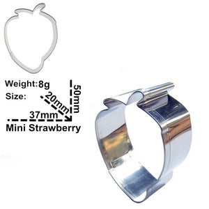 Strawberry Cookie Cutter - 5cm - Stainless Steel - Crafty Cookie Cutters