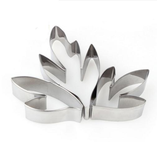 Leaf Cookie Cutter Set - 3pcs - Stainless Steel - Crafty Cookie Cutters