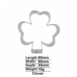 Clover Cookie Cutter - 8cm - Stainless Steel - Crafty Cookie Cutters