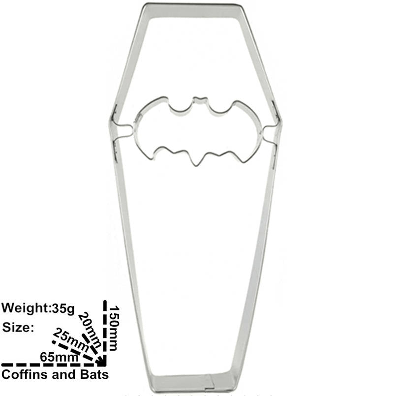 Batman Coffin Cookie Cutter - 8cm - Stainless Steel - Crafty Cookie Cutters