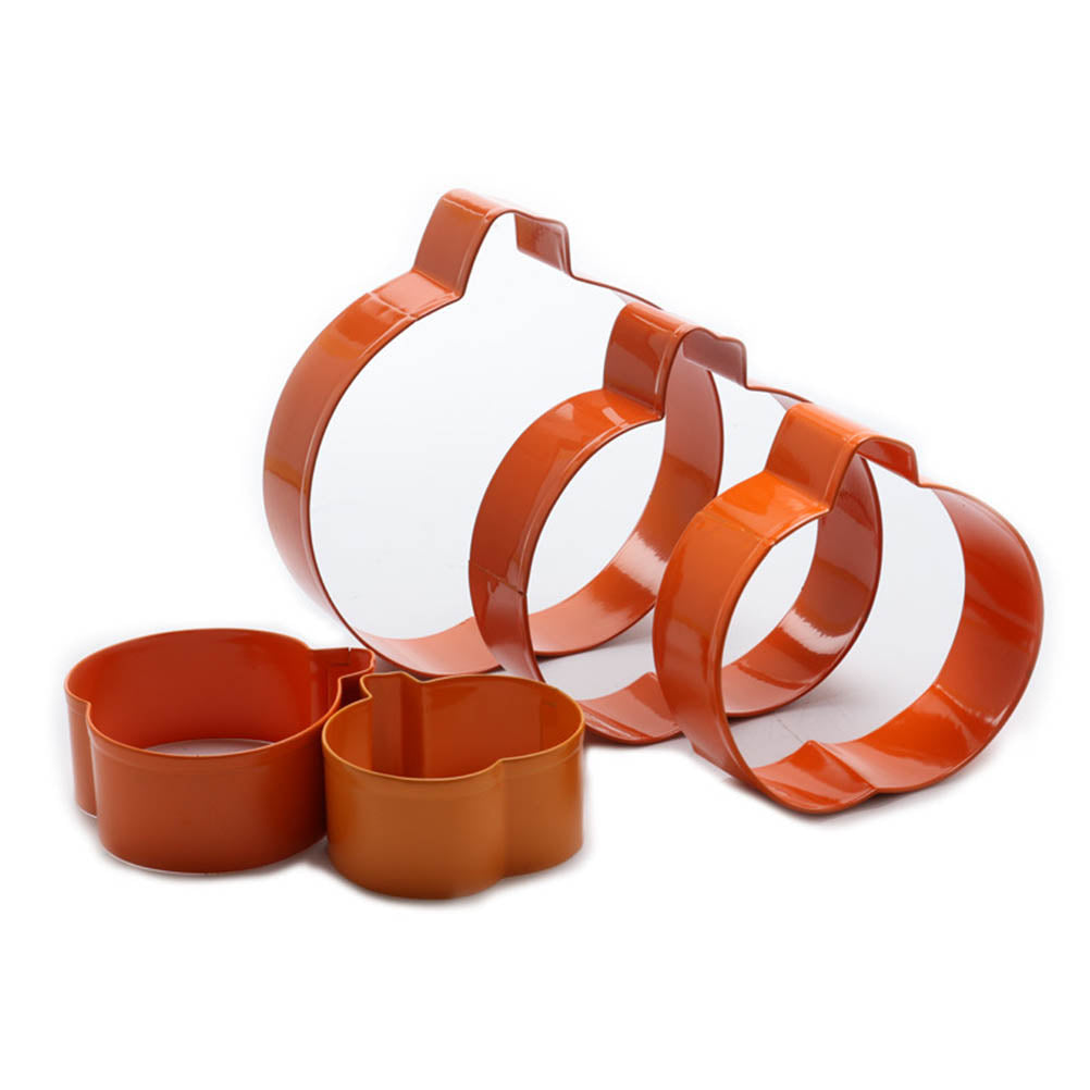 Pumpkin Cookie Cutter Set - 5pcs - Metal - Crafty Cookie Cutters