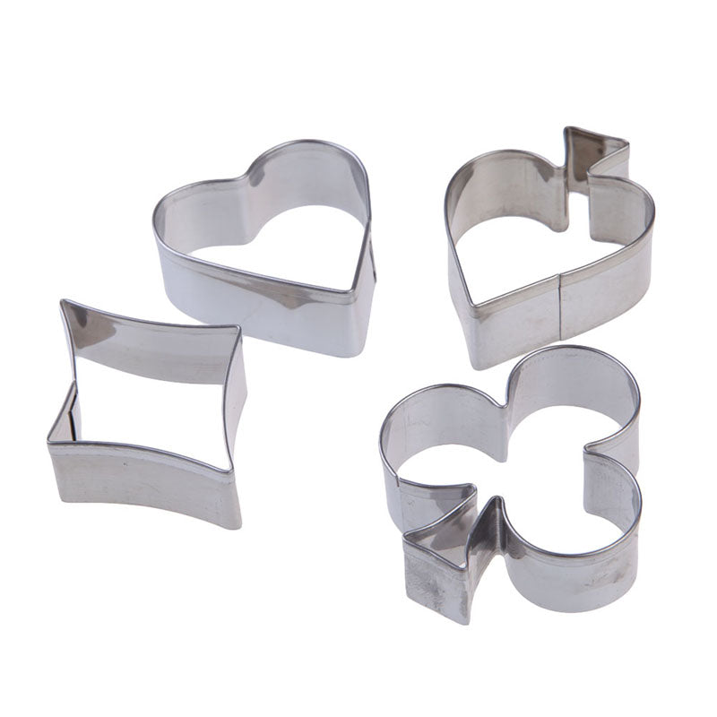 Playing Card Suits Cookie Cutter Set -  Stainless Steel - Crafty Cookie Cutters