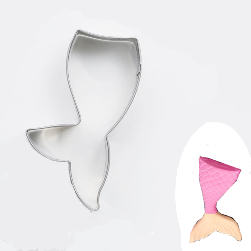 Mermaid Tail Cookie Cutter - 9cm - Stainless Steel - Crafty Cookie Cutters