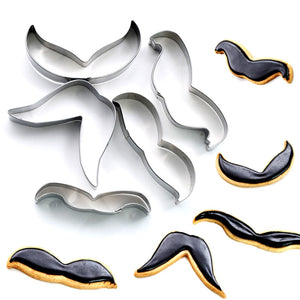 Moustache Cookie Cutter Set - 5pcs - Stainless Steel - Crafty Cookie Cutters