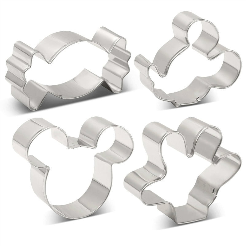 Mickey Cookie Cutter Set - Stainless Steel - Crafty Cookie Cutters