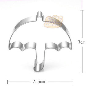 Umbrella Cookie Cutter - 8cm - Stainless Steel - Crafty Cookie Cutters