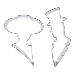 Lady and Gentleman Cookie Cutter Set  - 2pcs - Stainless Steel - Crafty Cookie Cutters