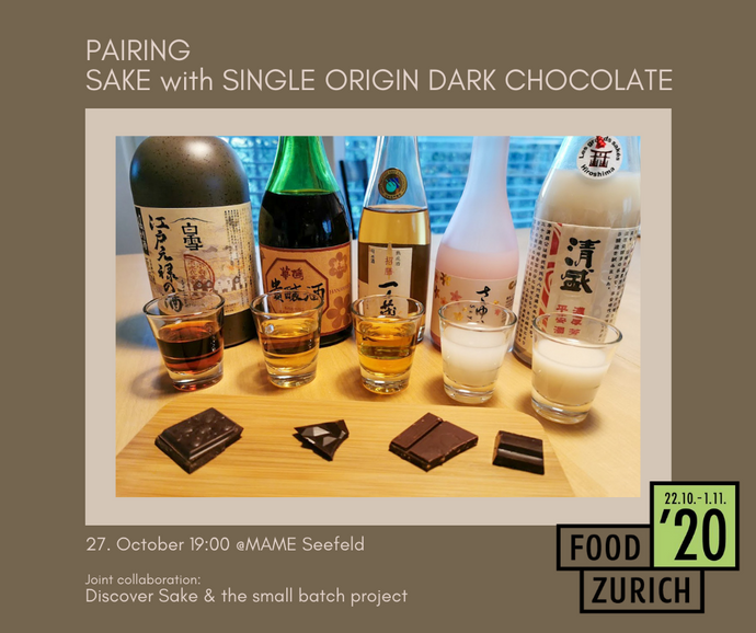 27. October - Pairing sake & single origin dark chocolate from around the world @ MAME