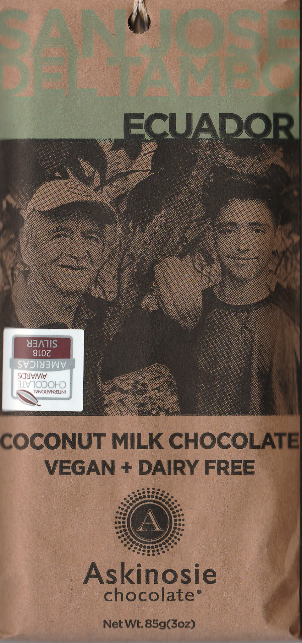 Askinosie Coconut Milk Chocolate Vegan + Dairy Free