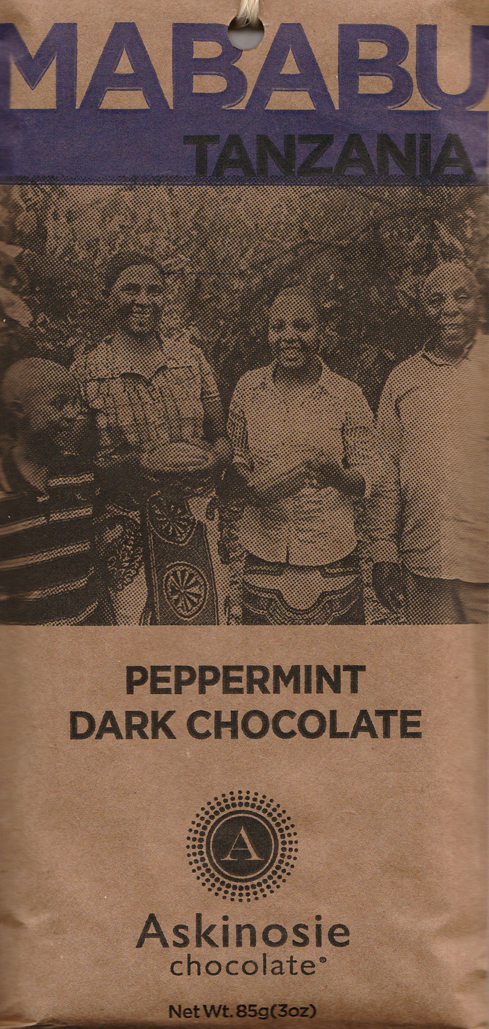 Askinosie Mababu Tanzania 58% Peppermint Dark Chocolate