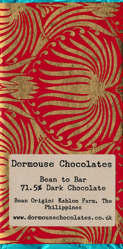 Dormouse Chocolates 71.5% Kablon Farm, The Philippines