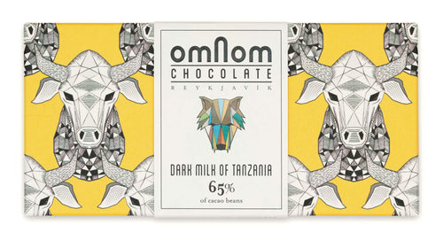 Omnom Chocolate Dark Milk of Tanzania 65% (packaging)