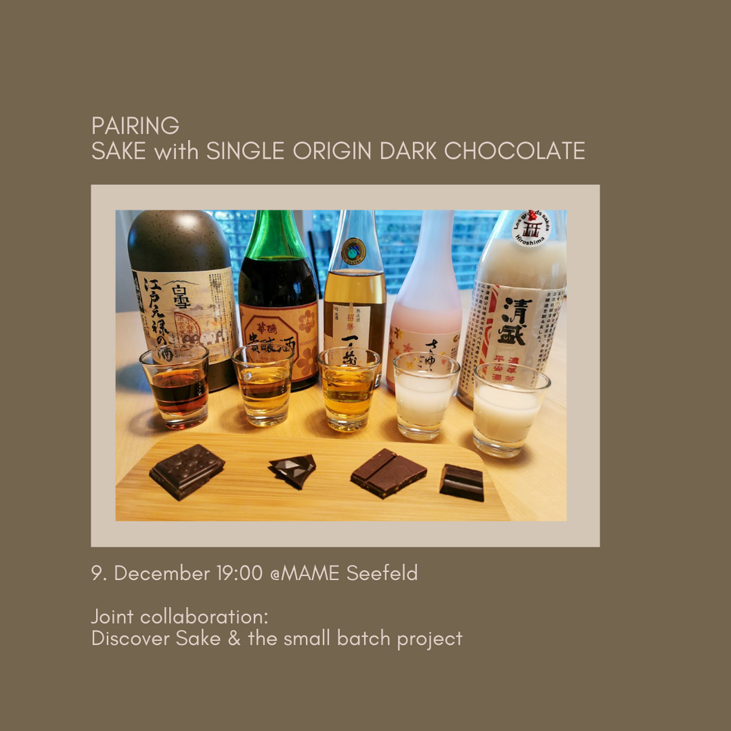 Ticket for the Event: 9.12 Sake & Single Origin Dark Chocolate Pairing