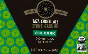 Taza Chocolate Stone Ground Dominican Republic 80%
