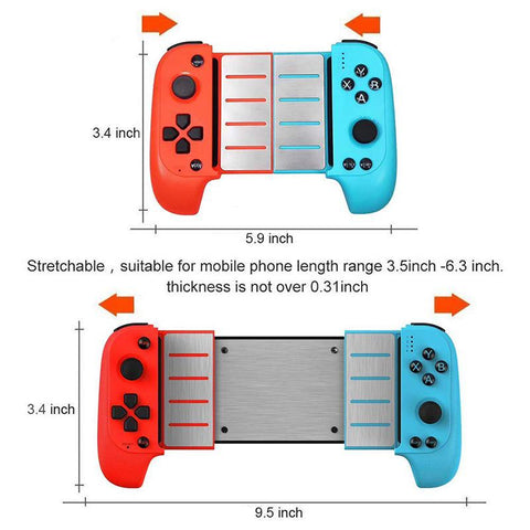 Bluetooth Game Controller Size