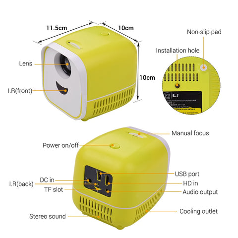 Green Mini Projector Function