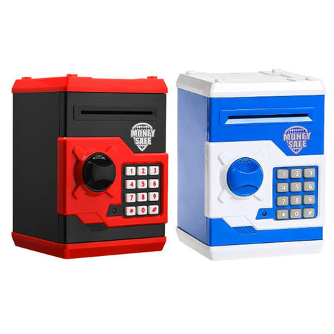 Blue And Red Electronic Bank