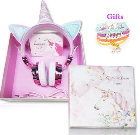 Pink Unicorn Headset With Box