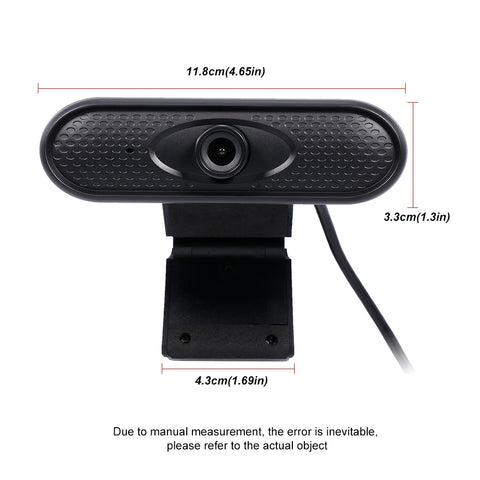 Black Webcam Size