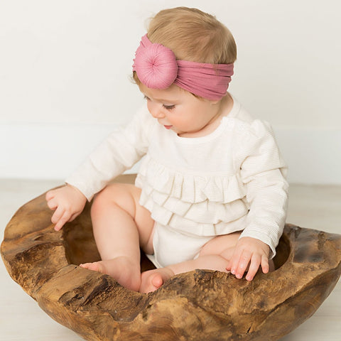 Pink Baby Knot Headbands