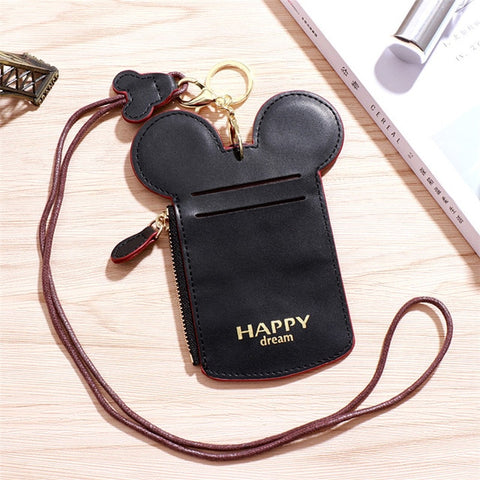 Minnie-Shaped Black Card Holder