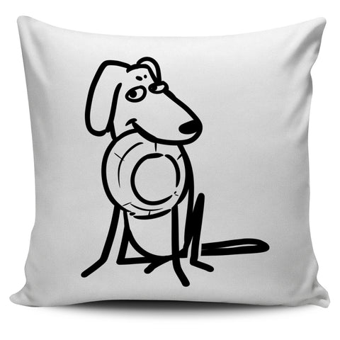 Dog Meal White Pillow Cover