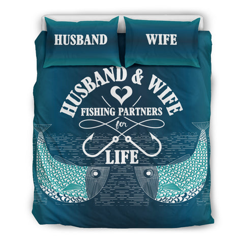 Fishing Partners For Life Bedding Set