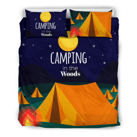 Camping In The Woods Bedding Set