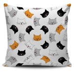 Wink Face Cat Pillow Cover