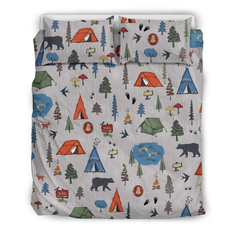 Cartoon Camping Bedding Set