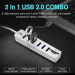 High Speed Multi USB Hub Built with 6 X USB Input and SD TF Card Reader