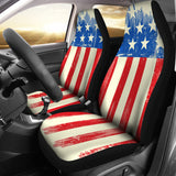 American Flag Car Seat Covers - Built for Universal Fit
